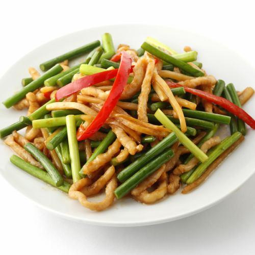 豚肉とニンニク芽の炒め/ハッポウサイ