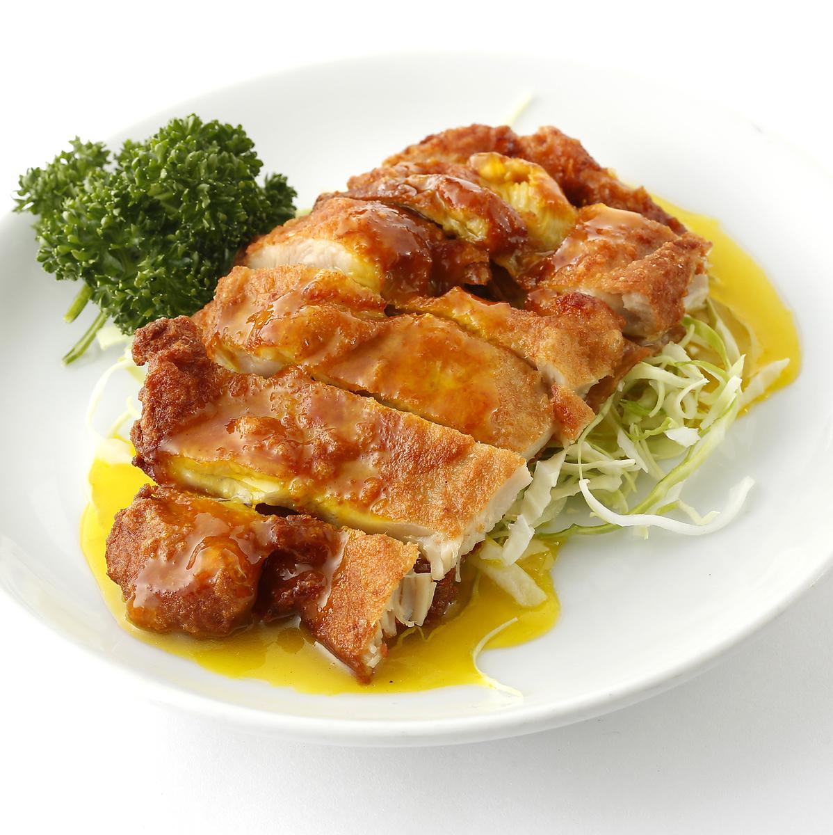 鶏唐揚げのレモンソース/ユーリンチー