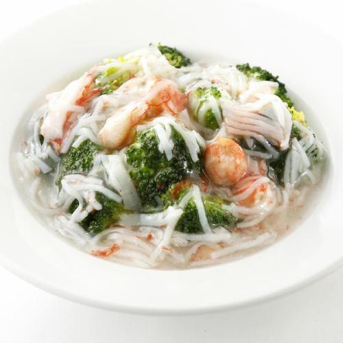 ブロッコリーのカニ肉あんかけ/季節野菜のカニ肉あんかけ