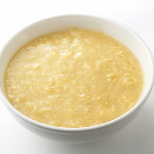 カニ肉入りフカヒレスープ/コーンスープ