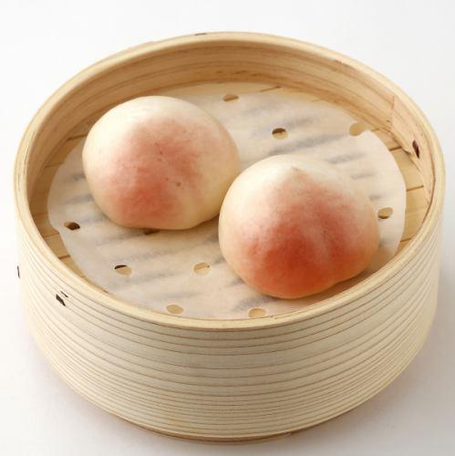 桃まん/杏仁豆腐