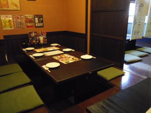 ご家族や会社帰りの気軽な飲み会などに最適な6名個室もございます!プライベート空間でごゆっくりとお寛ぎいただけます!