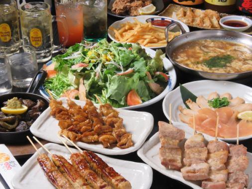 ボリュームたっぷり飲み放題付きコースは3500円~/料理のみは2000円~