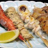 4 sets of skewers