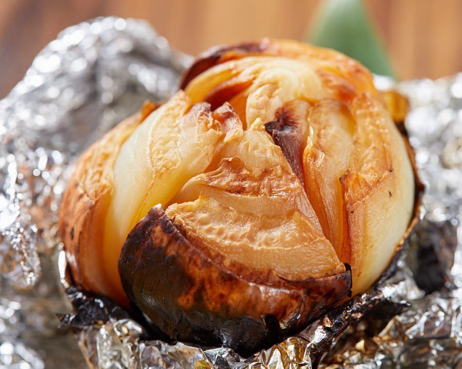 茄子一本 直火炭火焼き/丸ごと玉ねぎ直火焼き