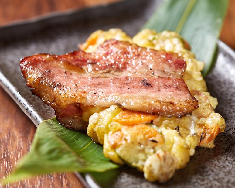 島豚ベーコン燻し藁焼きポテトサラダ