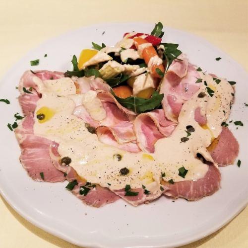 自家製ローストポークと季節野菜 ~イタリア伝統のトンナートソースで~