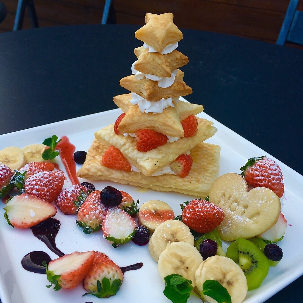 Surprise pie tower ♪