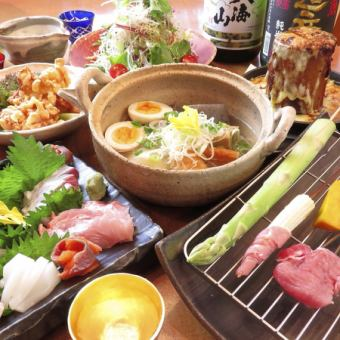 【1 most popular!】 Full of skewers deep-fried bamboo course / 3980 yen (tax included)