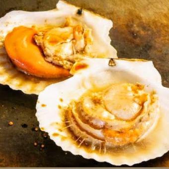 北海道産帆立バター/広島産大粒かきバター/大海老のバター焼き(2尾)