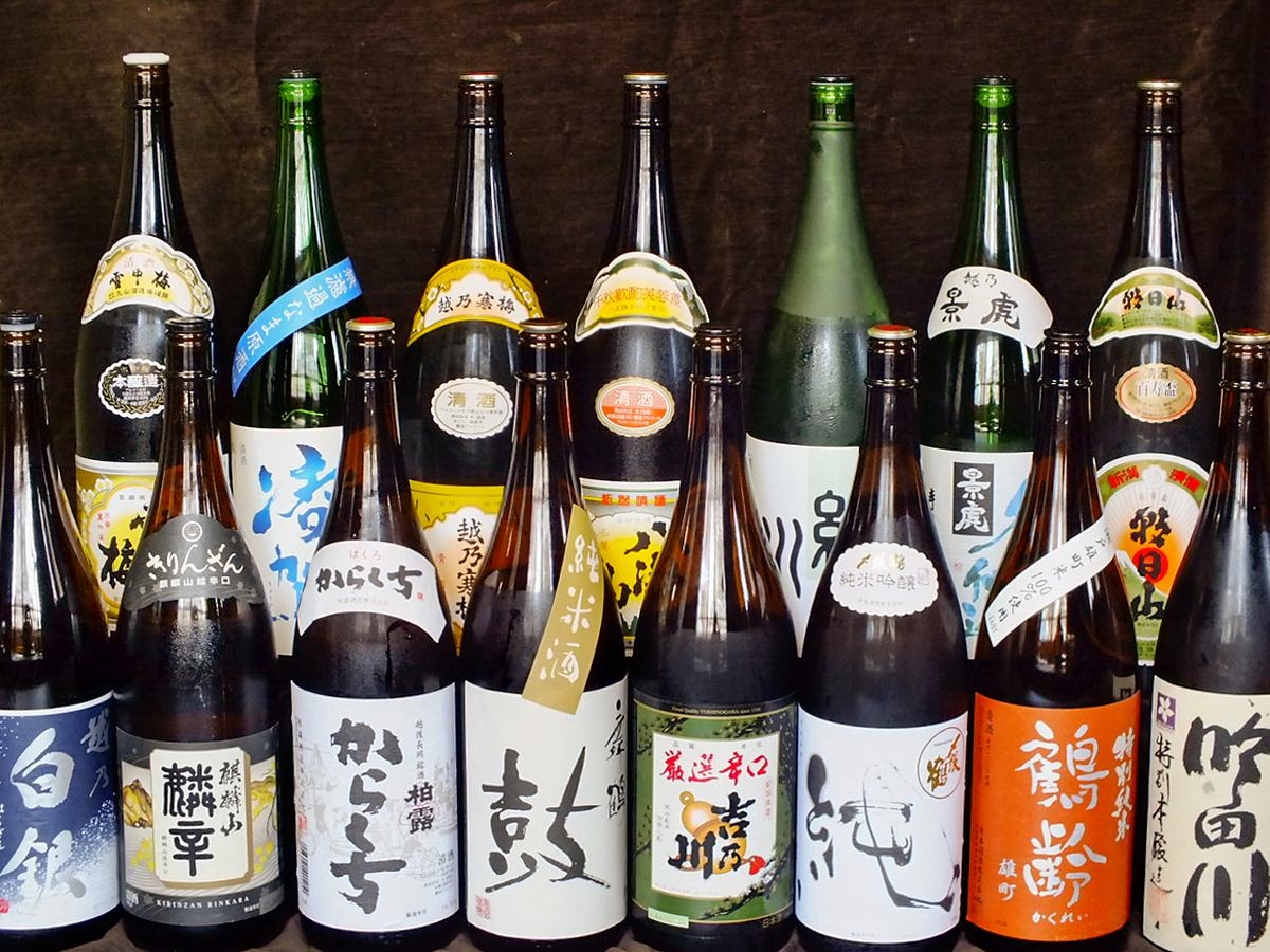 All you can drink 15 kinds of local sake [All you can drink premium] 5000 yen course also available.