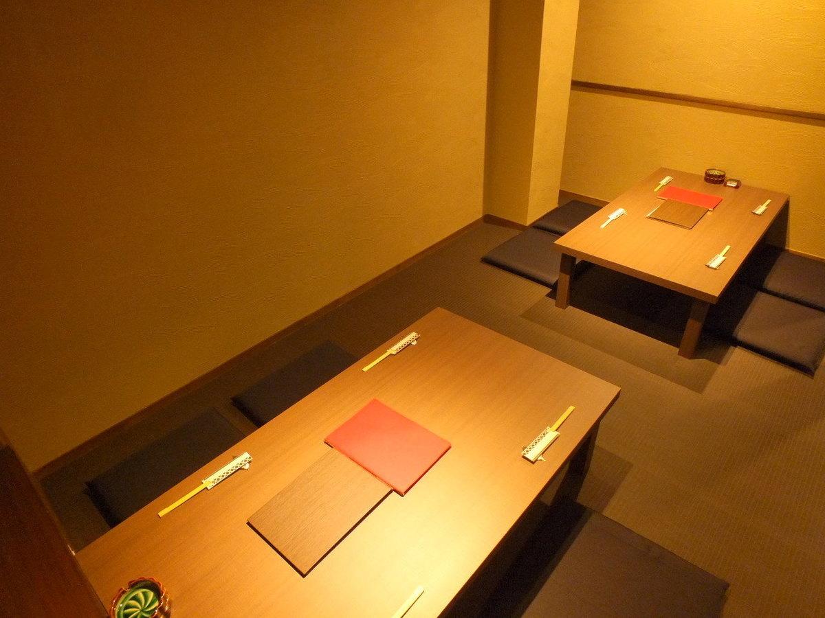 4名様用のお座敷です。お席を繋げれば大人数での宴会も可能です。