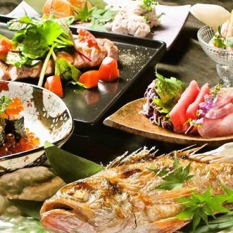 【2人〜好!】7種堅持品質的食品和全友暢飲全友可以發送電子郵件4000日元♪