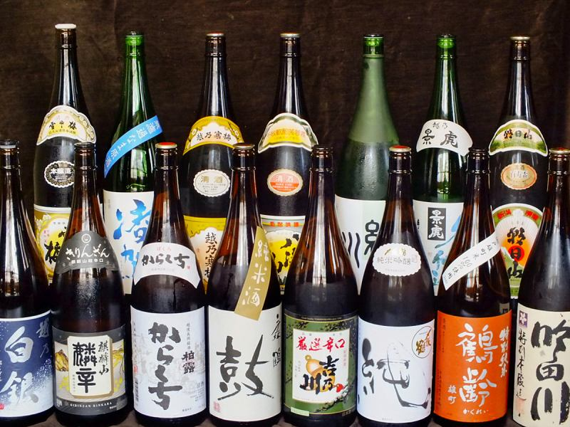 All-you-can-drink premium course with more than 15 kinds of local sake 8 items 5000 yen