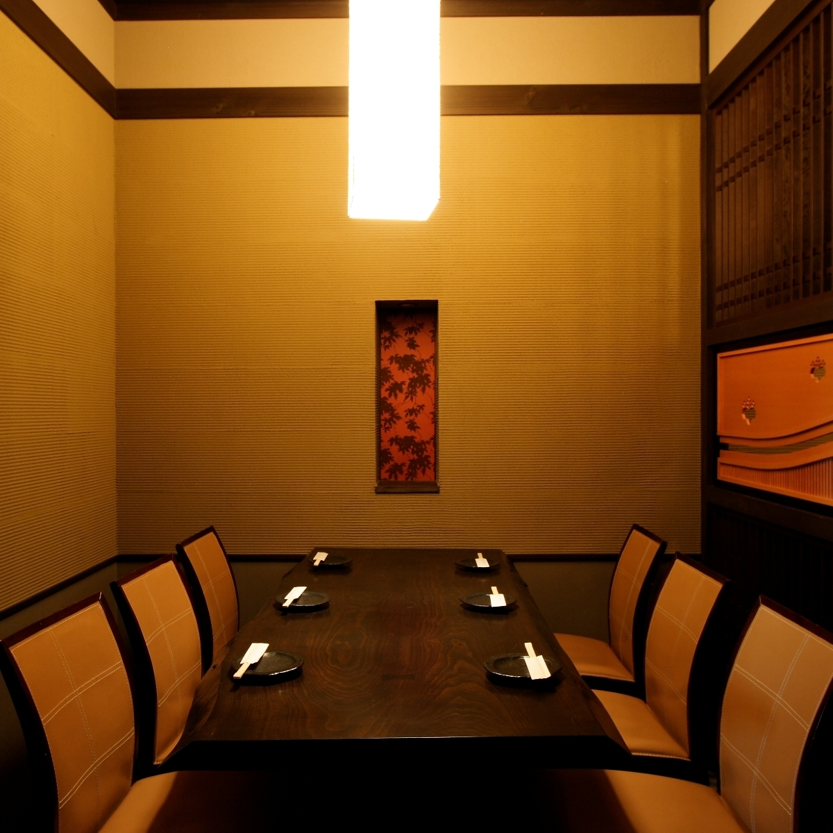 【Table Private Room】 It is a private room where 8 people with calm warmth can sit.A compact room with a calm atmosphere is also recommended for entertaining.All you can eat and drink, we have plenty of plans, so you should find a perfect plan!