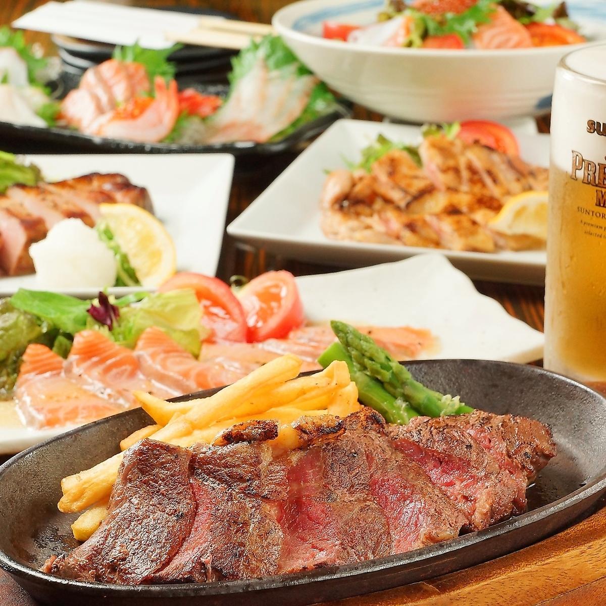您可以享用丰盛的饮料和美食!您可以享用无限畅饮的饮品
