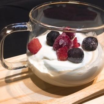Melting panna cotta