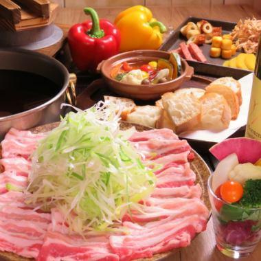 【涮涮鍋宴會】卷滿量程♪Negi涮涮鍋套餐!金豬Shab涮涮鍋等7件3000日元