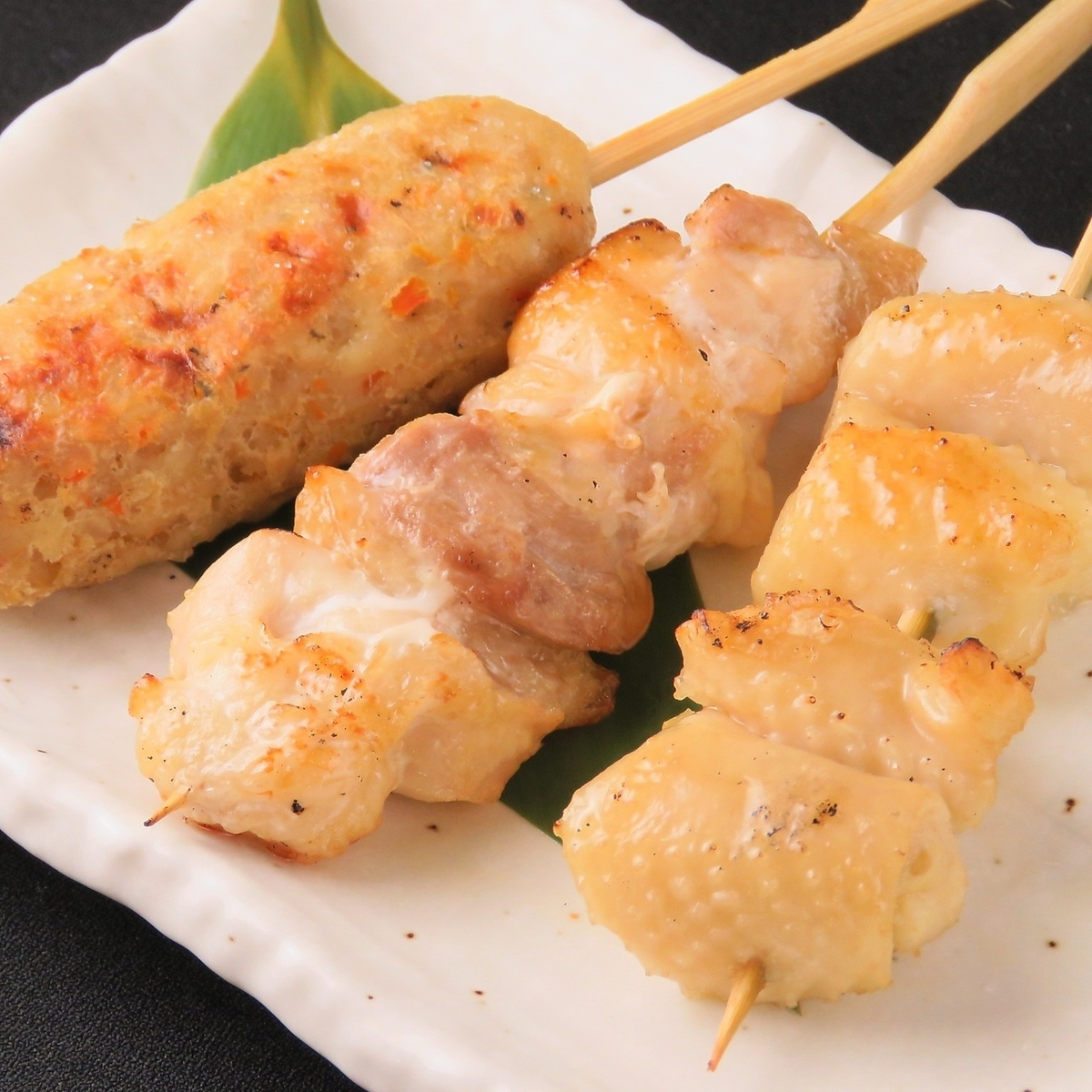 名古屋Cochin木炭烤雞肉拼盤3