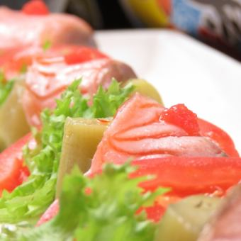 Salmon Mayo nigiri sushi