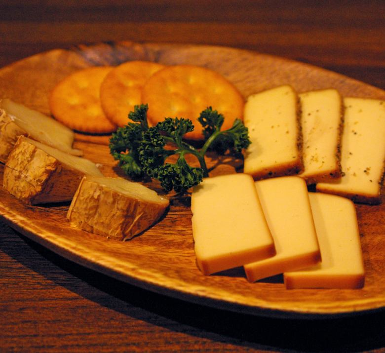 Assorted smoked cheese