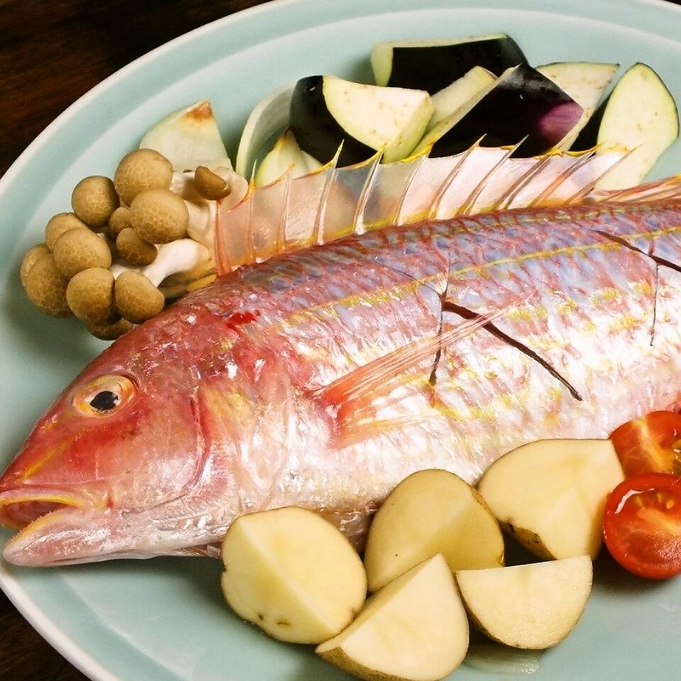 フレンチ風 新鮮な魚のアクアパッツァ