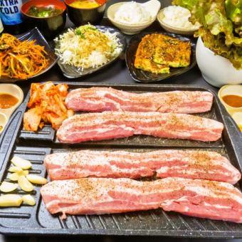 Raw Samgyeopsal和其他8项90分钟所有你可以吃当然♪