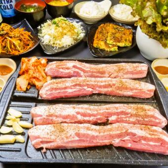 Raw Samgyeopsal and others 8 items 90 minutes All you can eat course ♪