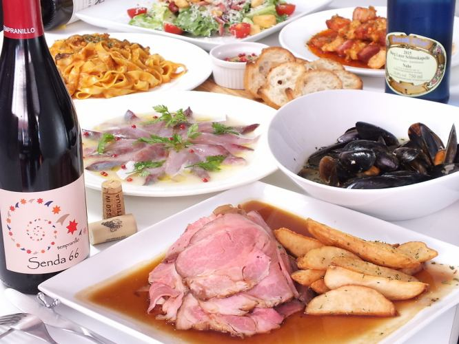 All-you-can-drink for 2 hours! Volume perfect 7 items 4500 yen course