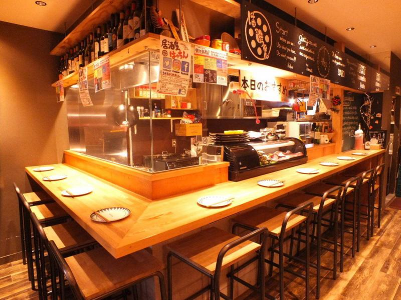 The first floor is available to come to feel free, even you alone like at the counter seat ★ in the counter seat You can also look at atmosphere that actually cooking, you can choose I will look at the recommended ingredients ♪