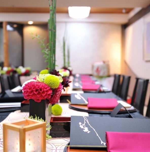【6~8名個室×5部屋】ご会食、接待、法要、顔合わせまで幅広くお使いいただける。