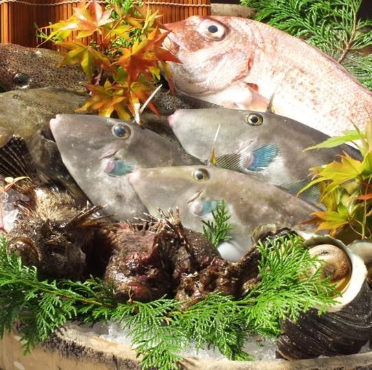 【旬の魚を使った料理】