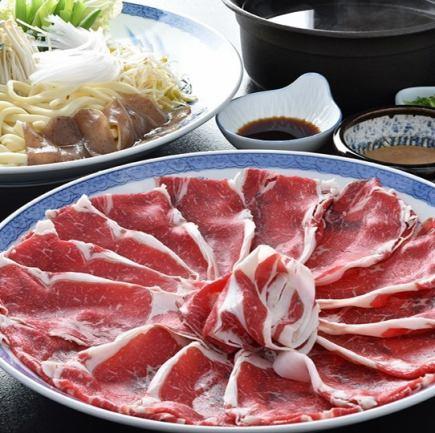 """""""요리 만""""【특선 사가 쇠고기 사용] ~ 특 샤브샤브 코스 ~ (총 7 종) 7020 엔 (세금 포함)"""