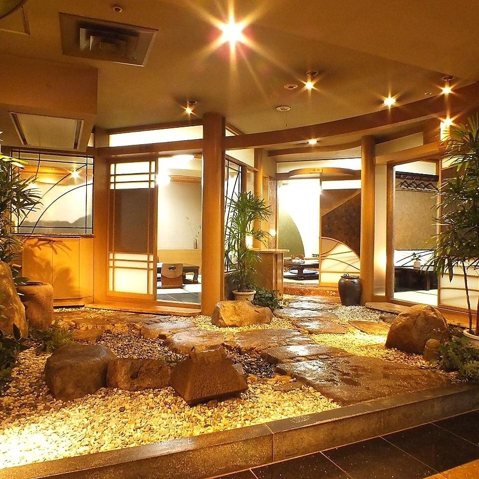 【日式房間,可以看到岩石花園】