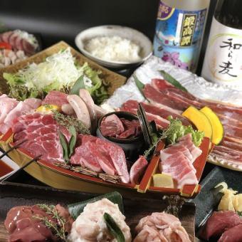 ボリューム◎道産和牛炙りすき焼きと肉寿司 兆コースお料理全13品100分飲み放題付5000→4000円