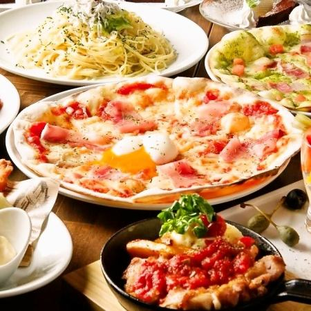 【Noon Day】 All you can drink soft drinks · CONA specialty kiln baked Pizza Including <All 5 items>