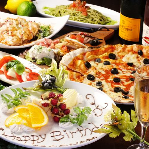 【On the day OK】 2.5 H with all you can drink · selectively thick steak & CONA specialty kiln baked Pizza including <8 items in total>