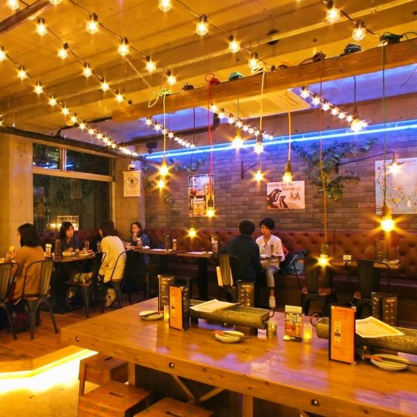 【Private discount ☆ Seating up to 50! Up to 70 eaters! Maximum of 70 people!】 Various parties · banquets · events ♪ projectors · microphones · audio connection equipment etc are also available free of charge in the shop like a stylish cafe.Please do not hesitate to consult with other surprises such as surprising production etc. by shedding images of memories and your favorite music.