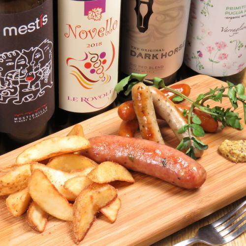 3 kinds of sausage platter