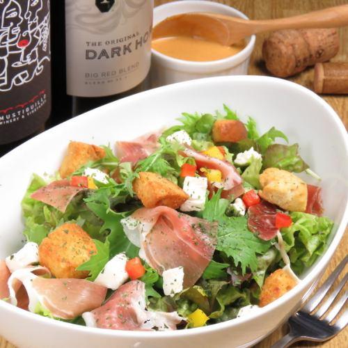 Prosciutto and cream cheese salad
