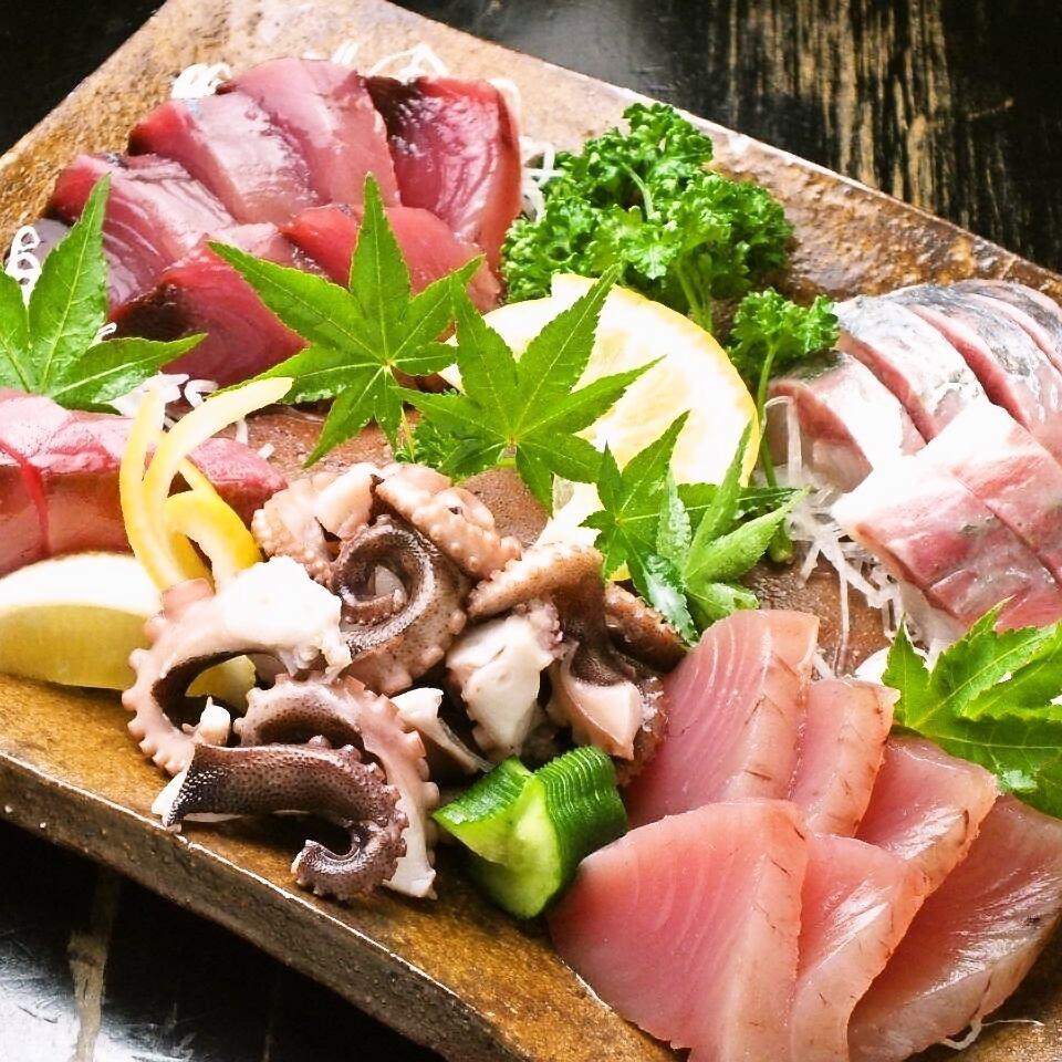 瀬戸内海から直送の新鮮なお魚や全国各地の鮮魚を堪能!