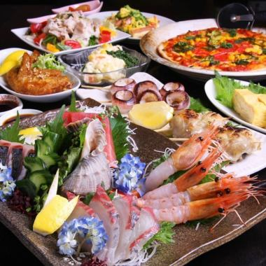 [Saturday and Sunday limited course] all 10 dishes 3h all you can drink with a 4,000 yen (excluding tax)