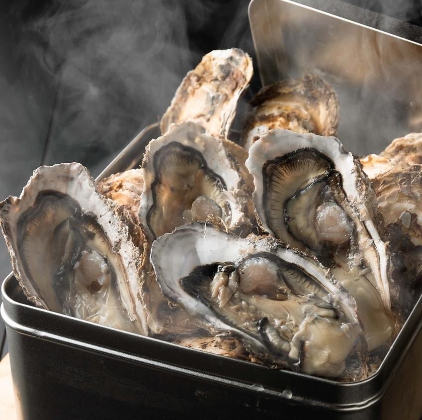 牡蠣的燉肉烤了6塊