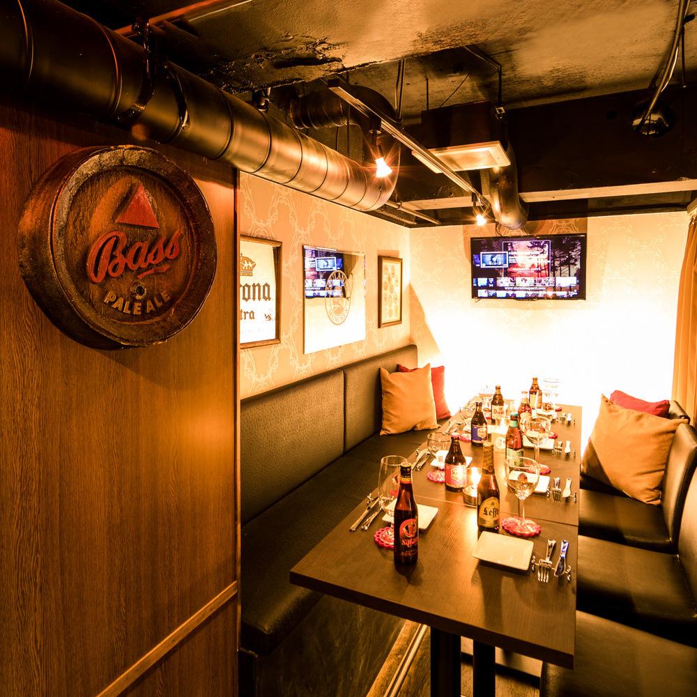 【20至40人OK】私人餐厅!卡拉OK设施·麦克风·配备电视显示器。团体可以集体形式指导多达30人。
