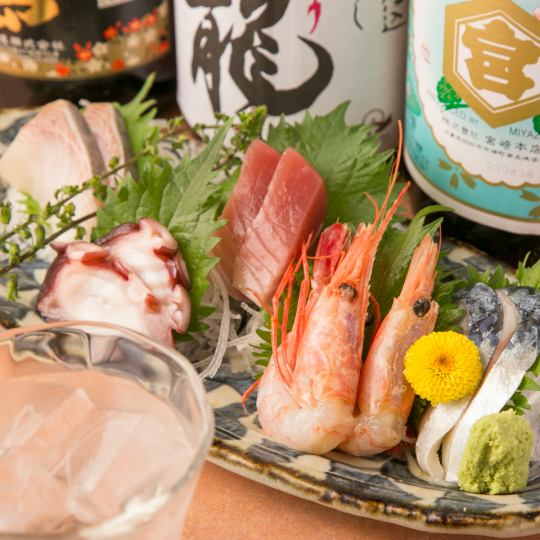 Favor the season! 【Recommended Sashimi with seasonal fish filled with 5 points】