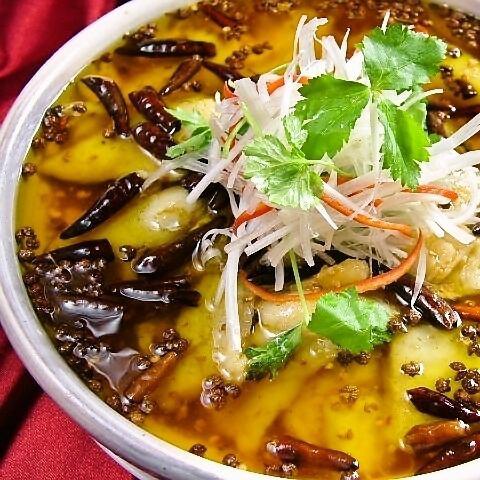 四川風魚の煮込み