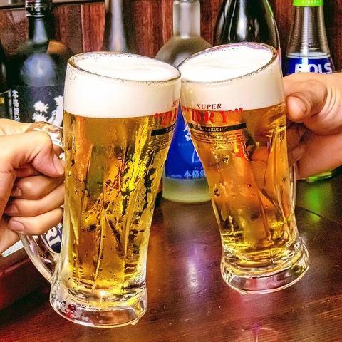 開店10周年記念で生ビール298円、サワー類280円♪