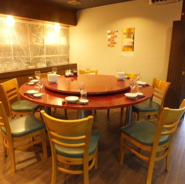 【円卓もご用意♪】中華と言えば『円卓席』ご要望・人数に合わせて店内のレイアウトを考えさせていただきますのでお気軽にご相談ください。会社の宴会や、会食、お祝い事やご家族さまで。幅広いシーンでご利用頂けます◎【横浜 中華 貸切 個室 飲み放題】