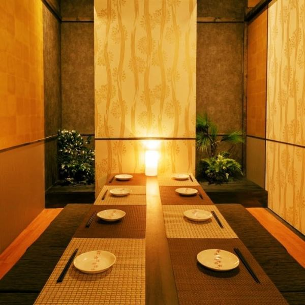 擁有寧靜的氛圍,您可以用於舉辦重要的宴會。我們將回复您想要的人數!!我們可以在私人房間放鬆身心的榻榻米放鬆一晚!座位將為2至180人準備。※照片是附屬商店
