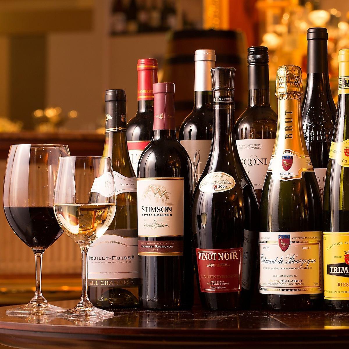 金山駅1分!隠れ家ダイニングで♪世界のワインを15種飲み比べ。